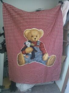 Teddy Bear baby blanket -  new hand made