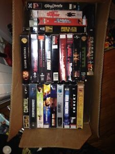 140 VHS Movies, film of year, action ask 1.00 or BO takes all London Ontario image 1