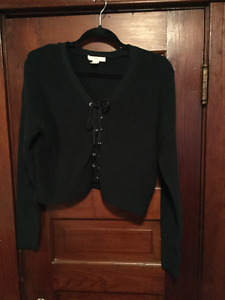 SALE! Forever 21 navy lace-up sweater (A185)