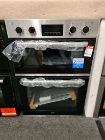 Brand New Beko CDFY22309X 60cm Built In Double Oven - Stainless Steel
