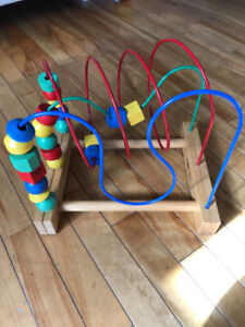 Wire and bead toy