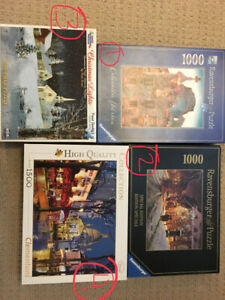 Puzzles 1000 or 1500 pieces - ravensburger, clementoni