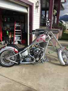 Wide Frame custom chopper
