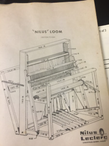 Leclere Nilus 4 Harness Loom. storage bench