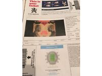Robbie Williams concert tickets x2