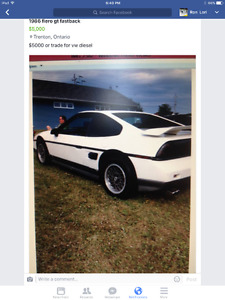 1986 Pontiac Fiero Coupe (2 door)