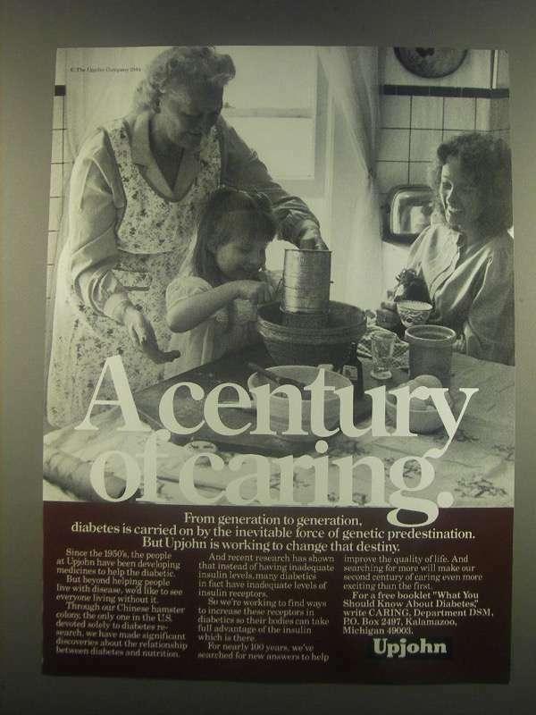 1985 Upjohn Medicine Ad - Genetic Predestination