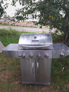 Chrome Large BBQ with FULL TANK **Delivery Included**