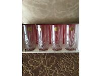 Chantilly crystal tumblers