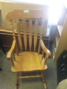 HARDWOOD ROCKING CHAIR...2 AVAILIBLE