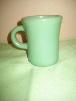 Anchor Hocking Fire King Jadeite C Handle Coffee Chcolate Mug Heavy Restaurant, used for sale  Shipping to Canada