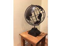 Metal globe ornament