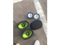 Fusion 260w speakers & Kenwood 160w door card speakers