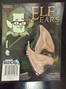 "Novelty item for ages 13 +  : ""Elf Ears"" Rubber Ear Tips"