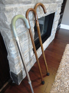 Two Canes for sale -One Bamboo and one adjustable Aluminum one Kitchener / Waterloo Kitchener Area image 2