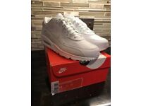 Men's Nike Air max 90 white leather trainers size