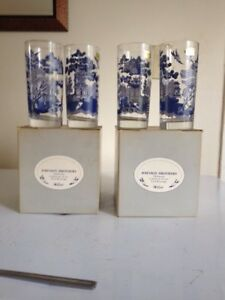 Vintage glassware Blue Willow