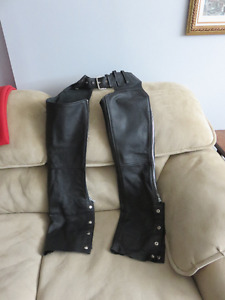motorcycle female leather chaps