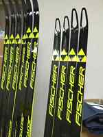 Fischer cross country race skis and Swix race poles