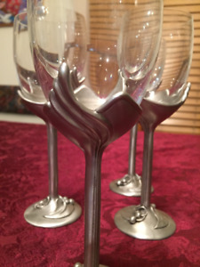 Wine Glasses - Vintage Pewter ~ LOST