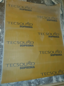 Acoustic Knauf RS60 mineral wool (like rockwool) and tecsound S100