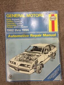 Haynes '82-'94 Cavalier/Sunbird/etc Repair Manual