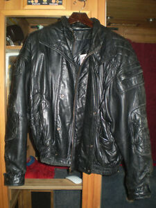 BLACK SHEEPSKIN LEATHER JACKET