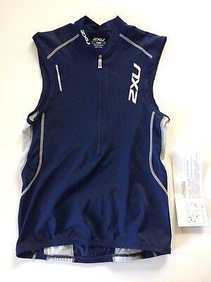 2XU Triathlon Endurance 3 Pocket Tri Top Blau - Herren S - UVP 79,95