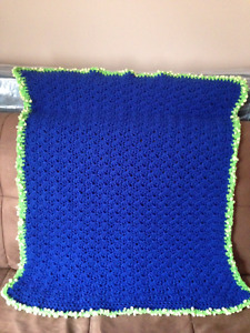 New hand-made crocheted baby blanket