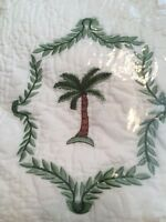 Embroidered Palm tree throw