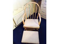Glider rocking chair & foot stool