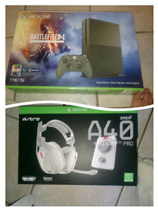 Brand new Xbox one s, and astro a40tr headset bundle