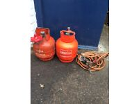 Propane torch with 2 Calor Bottle