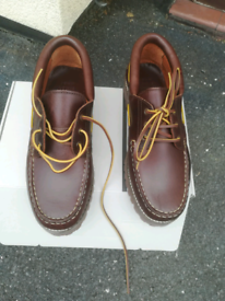Boat shoes / Deck shoes. Men size 9uk. John Lewis Brand new in box