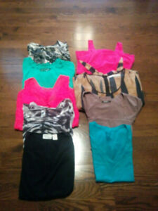 10 PEICE LADIES LOT OF CLOTHING SIZE LARGE
