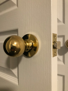 Polished Brass Door Knobs