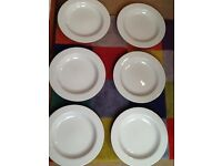 6 IKEA 365+ very large deep white plates