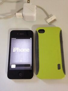 "i Phone 4 with Charger and Case. $60 ""SOLD"""