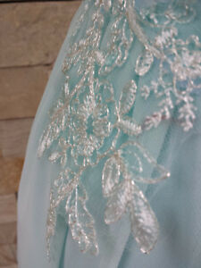 Tiffany blue full evening dress for ladies Kitchener / Waterloo Kitchener Area image 3