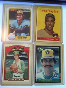 Rollie Fingers, Robin Yount, Tony Tailor baseball cards