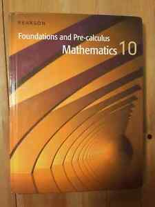 Pearson Foundations and Pre-calculus Mathamatics 10  (Math 10-C)