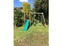 TP swing/slide and climbing frame set