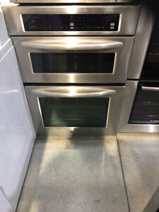 """Kitchenaid 30"""" Wall Oven & Microwave Stainless Combo $1299 TO"""