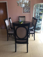 Black Dining Table in hard wood