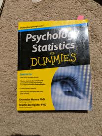 Psychology statistics for dummies book