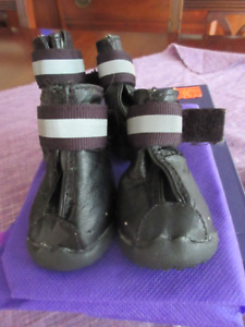 Doggie Q New Leather dog booties with rubber soles  XS