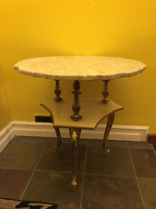 Marble Top Hall Table.