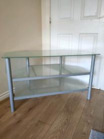 Glass TV Unit Corner Unit