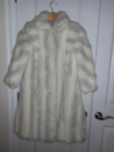 Girl's Fur  Coat size 8
