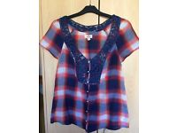 Checked Hollister blouse
